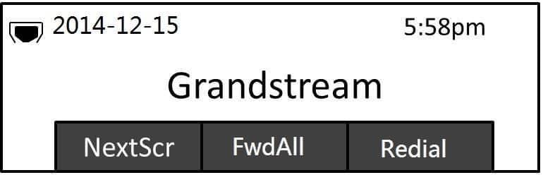 Grandstream GXP1610 Ekran