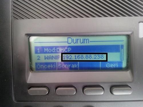 TTec E52 IP Telefon Kurulumu Ve Ayarları 3