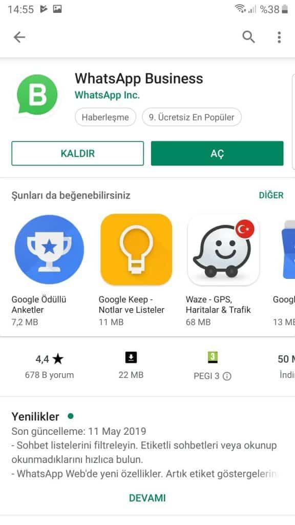 Kurumsal Whatsapp hesabımı nasıl oluşturabilirim? 5