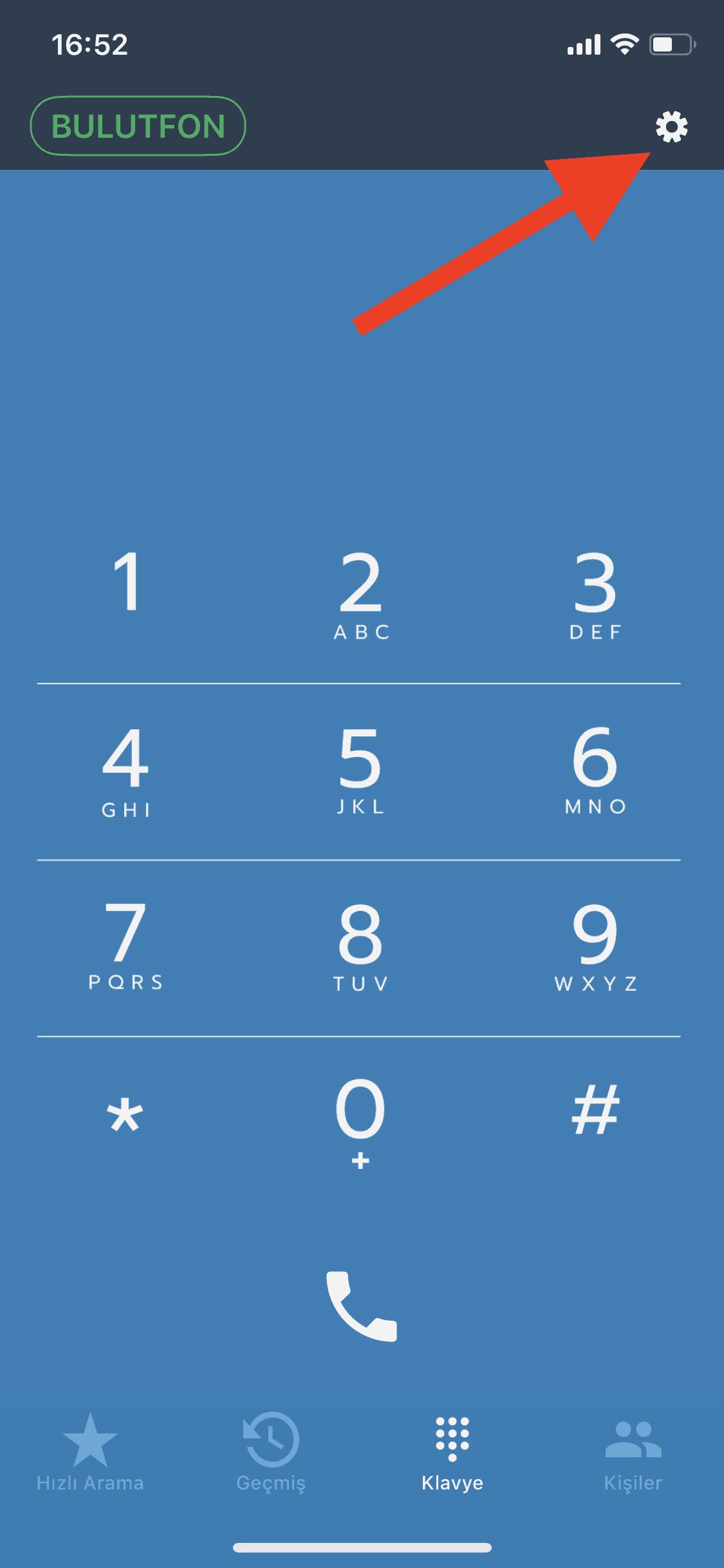 Bulutfon iOS uygulaması için numara düzeltme özelliği 1