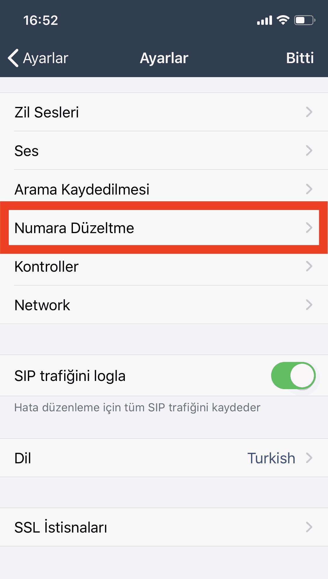 Bulutfon iOS uygulaması için numara düzeltme özelliği 3