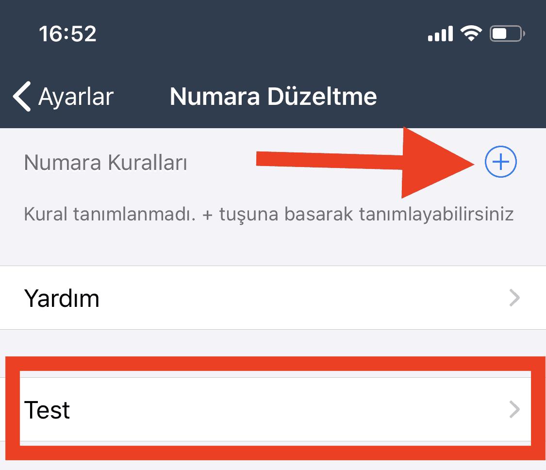 Bulutfon iOS uygulaması için numara düzeltme özelliği 4