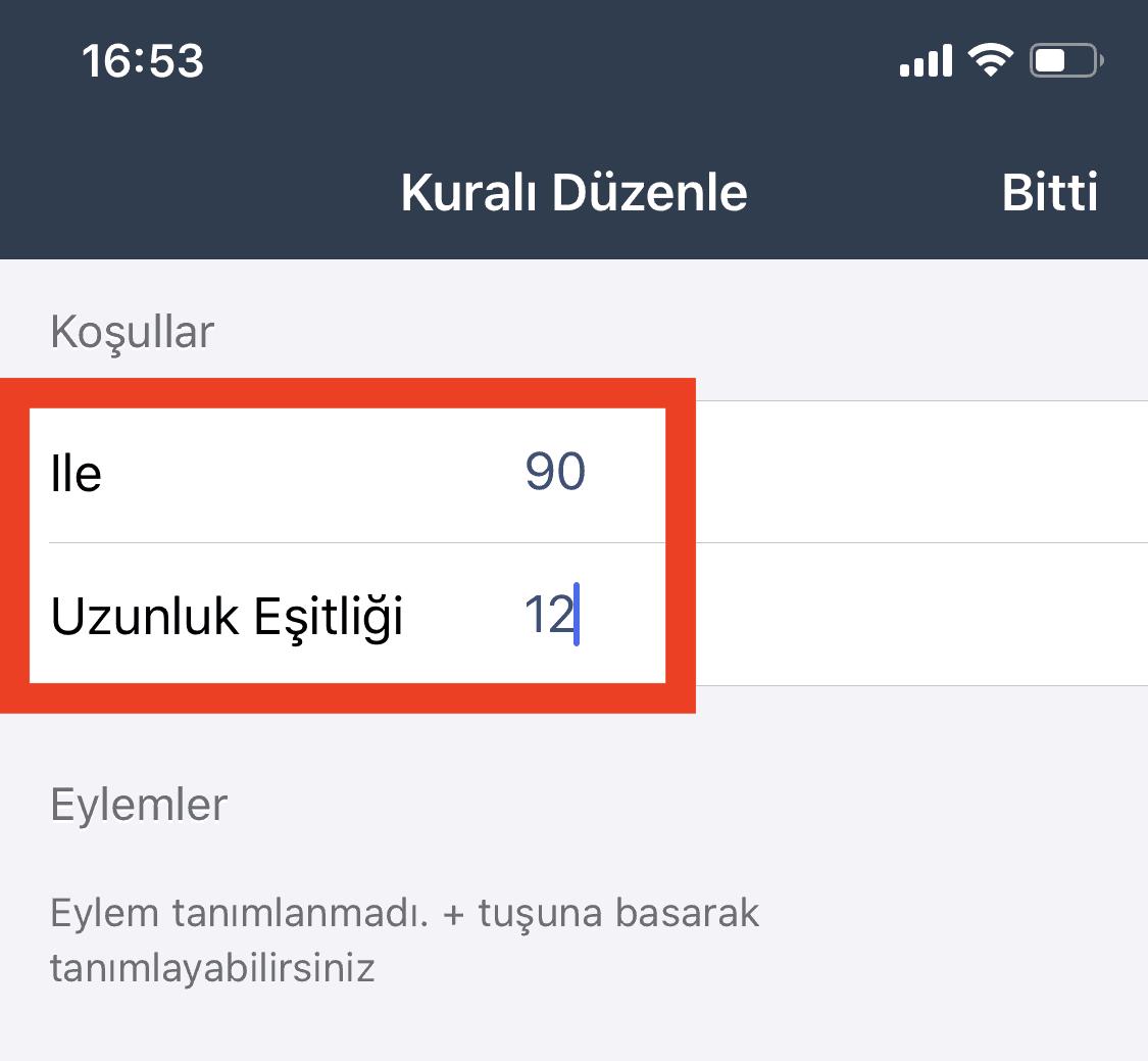 Bulutfon iOS uygulaması için numara düzeltme özelliği 6